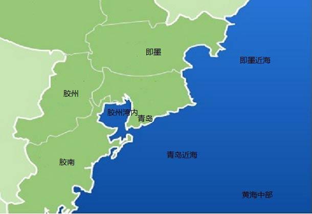 青岛近海及周边城市24小时天气预报